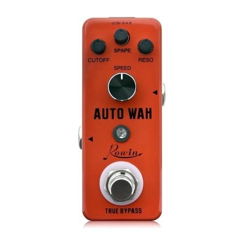 Rowin Digital Auto Wah Guitar Effect Pedal True Bypass