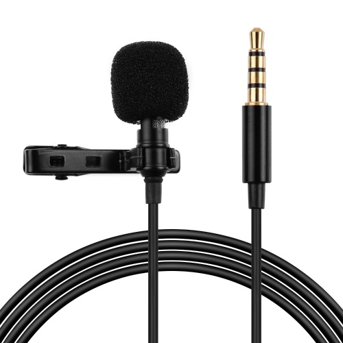 Professional Lavalier Clip-On Microphone 3.5mm Audio Plug Compatible