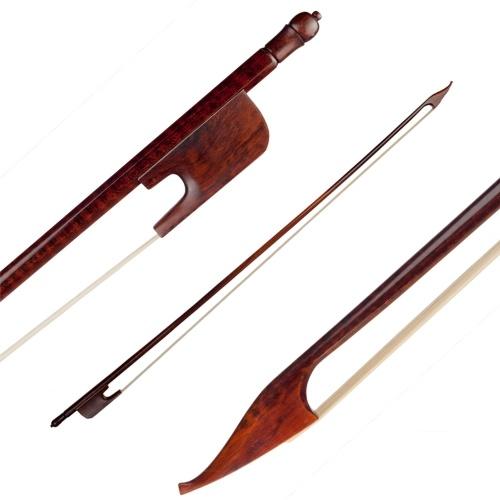 4/4 archet de violoncelle style baroque bois de serpent rond bâton grenouille bois de serpent blanc crin de cheval bien équilibré