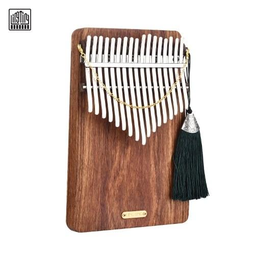 LINGTING K17P Piano portátil de 17 teclas Kalimba Mbira Sanza Material de madera maciza