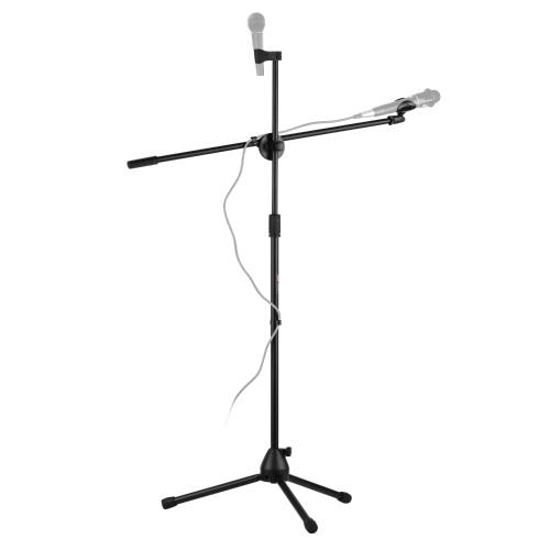Регулируемая складная подставка для микрофона Живая штатив для микрофона с микрофоном и штангой 2
