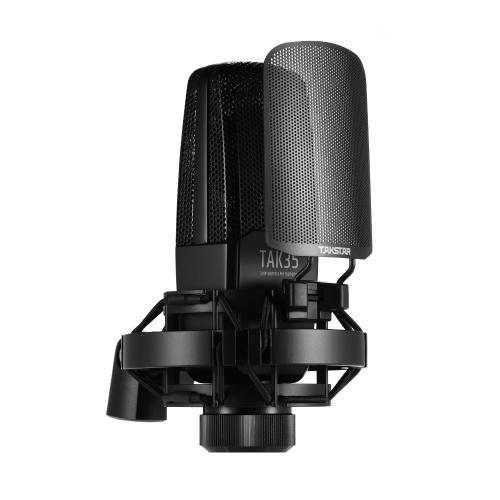 TAKSTAR TAK35 Micrófono cardioide condensador de grabación profesional Micrófono
