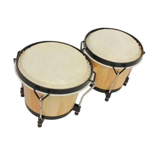 Bongo Drums Деревянный ударный инструмент Ударная установка