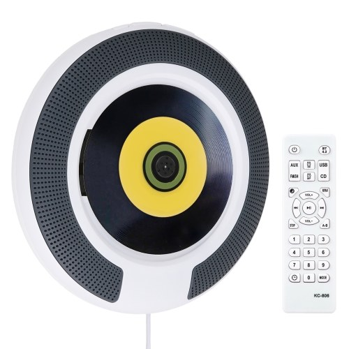 ammoon KC-806 Reproductor de CD portátil de montaje en pared