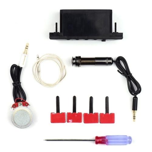 Akustikgitarren-Tonabnehmer Resonanz-Tonabnehmer-Vorverstärkersystem mit wiederaufladbarer Batterie