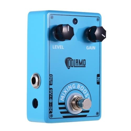 Pédale d'effet guitare Dolamo D-10 Mixing Boost avec commandes de gain de niveau et conception True Bypass pour guitare électrique