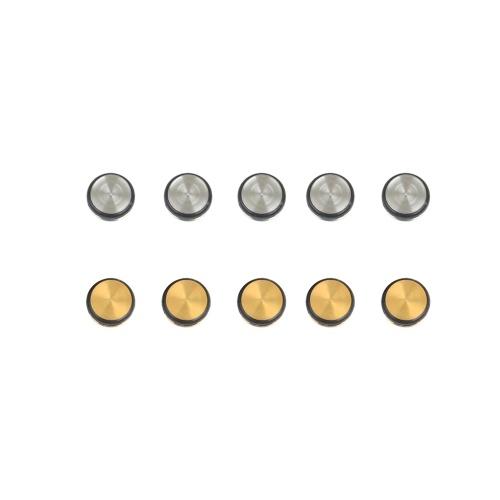 10 шт. Универсальные заглушки для флейты, металлические силиконовые прокладки для флейты, заглушки с открытыми отверстиями, сменный аксессуар для духовых инструментов