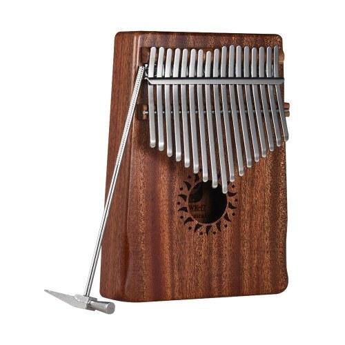 17-clé portable Kalimba Mbira pouce piano acajou instrument de musique en bois massif cadeau pour les amateurs de musique débutants étudiants