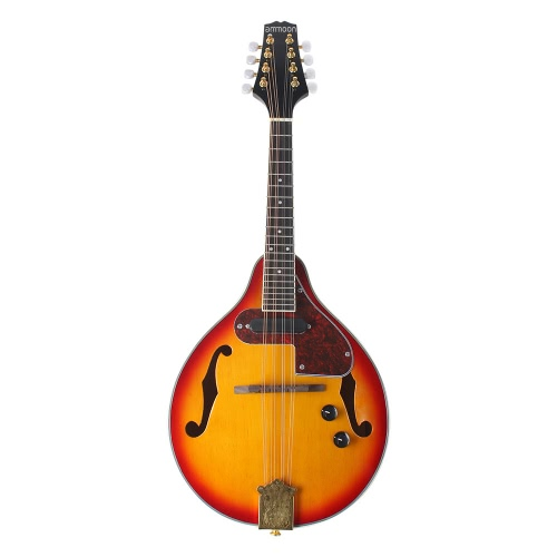 Ammoon Adjustable 8-String Electric A Style Mandolin Rosewood Fingerboard String Instrument with Cable Strings Cleaning Cloth фото