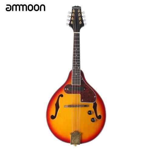 ammoon セット 8弦 マンドリン  A-スタイル 弦楽器 ケーブル/布/弦付き