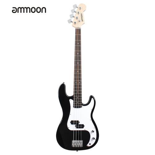 ammoon solide Holz elektrische Bass Gitarre PB Stil Basswood Body Palisander Griffbrett mit Gig Bag Strap Kabel Pickups