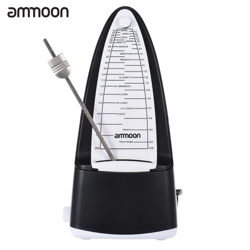ammoon Portable Universal Mechanical Metronome Duple Triple Quadruple Sextuple for Guitar Violin Ukulele Music Instrument Lovers Beginners