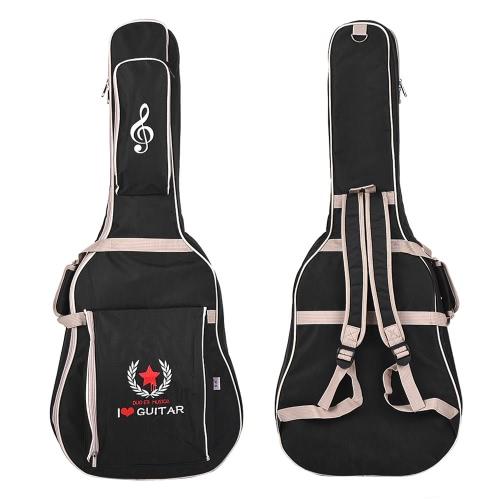 "41 ""Custodia in pelle chitarra acustica Cinturino regolabile in spalla imbottita con cotone Deep Blue"