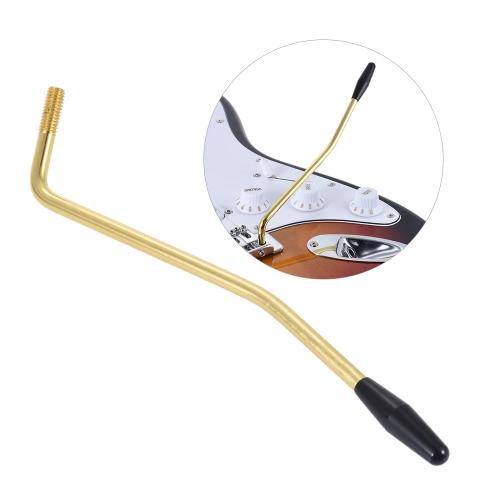 6mm średnica gwintu pojedyncze Tremolo Trem Wibrato Whammy Bar korby Dźwignia do gitary elektrycznej Tremolo Systemu złoty z czarną końcówką