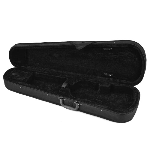Professional 1/8 Violin Triangle Shape Case Box Hard & Super Light with Shoulder Straps Gray