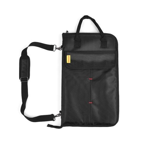 Ammoon Zippered Drum Stick Podudzie Torba na drobne torby z zewnętrznymi kieszeniami Podłokietniki Tom Hooks Pasek na ramię Handel
