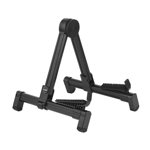 Folding Adjustable Universal Guitar Stand Holder Bracket Support Aluminum Alloy Upright A-frame for Acoustic Electric Classical Folk Guitar Ukulele Bass Violin String Instrument