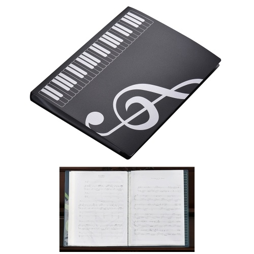 A4 Size Music Score Paper Sheet Note Document File Organizer Folder Holder Case 40 Pockets
