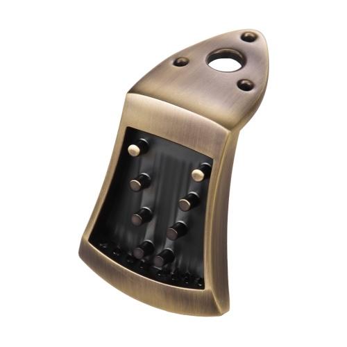 メタルトライアングルテールピースブリッジ亜鉛合金、8弦アーチトップマンドリン(取り付けねじ付き)弦楽器交換部品アクセサリー