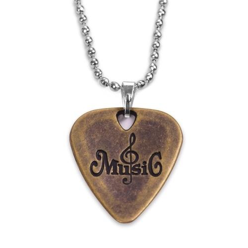 Épaisseur de l'alliage de zinc 1.2mm de collier de choix de guitare en métal avec la chaîne de boule