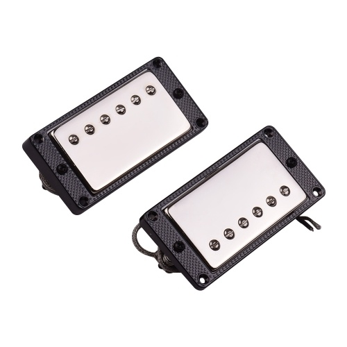 2PCS Sealed Humbucker Pickups Pick-ups Dual Coil for LP Electric Guitar with Mounting Screws BlackAlloy Frame