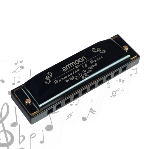 ammoon 10 Holes 20 Tones Blues Harmonica Mouth Organ Key of C with Storage Case for Kids Beginners Students Musical Gift