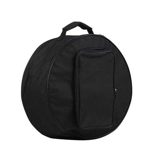 Compact Snare Drum Bag Backpack Case with Shoulder Strap Outside Pockets Musical Instrument Accessory Black