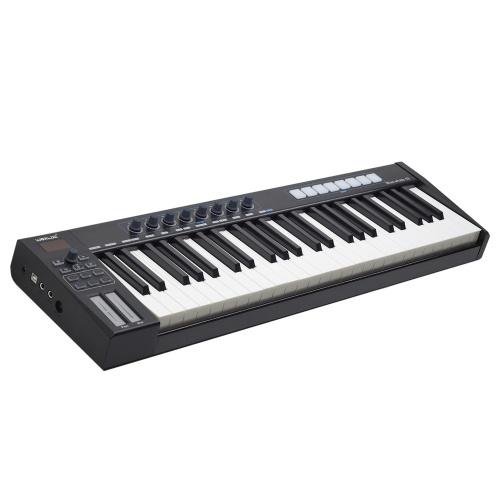 Teclado controlador USB MIDI portátil WORLDE Blue whale 49