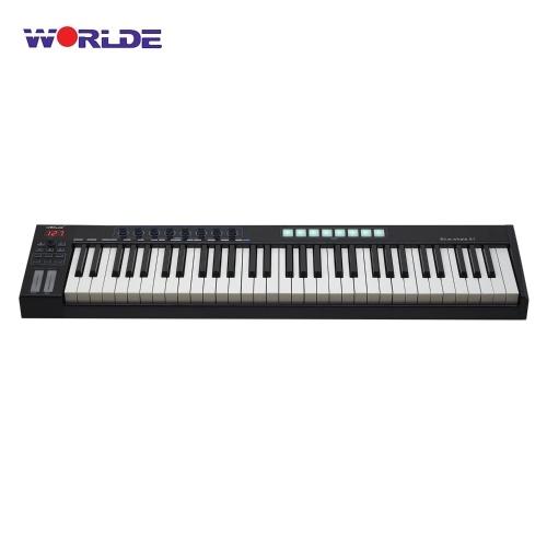WORLDE Blue whale 61 Clavier de contrôleur MIDI USB portable