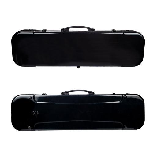 4/4 Tragbare Glasfaser-Geigenkiste in voller Größe, längliche Form, Hartschalen-Aufbewahrungsbeutelbox mit Hygrometerbändern