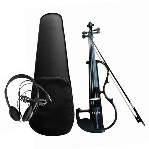 4/4 Elektroakustisches Violinset Massivholz Elektrische Silent Violine