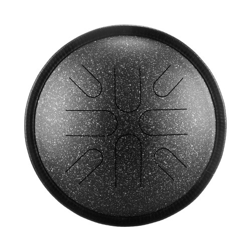 10 Inches Portable Steel Tongue Drum 8 Notes Handpan Drum Travel Drum...