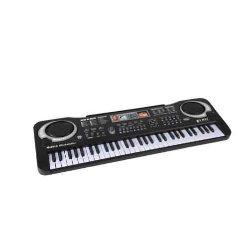 61 клавиша электронный орган USB цифровая клавиатура пианино музыкальный инструмент детская игрушка с микрофоном