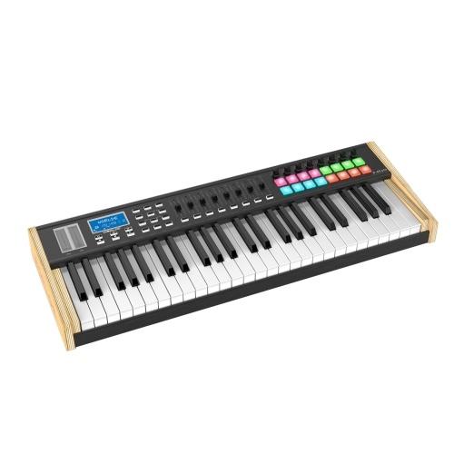 WORLDE P-49 Pro 49-клавишный USB-контроллер MIDI-клавиатуры ЖК-дисплей