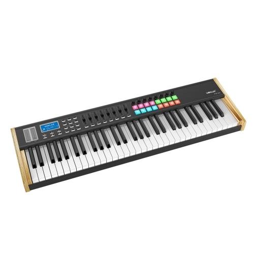 WORLDE P61 Pro 61 Key USB MIDI Keyboard Controller LCD Display