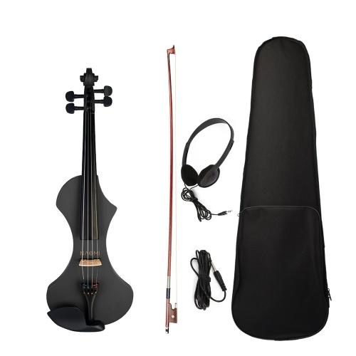 NAOMI V1 Series 4/4 Violon électrique pleine grandeur Corps de violon en bois massif sculpté à la main