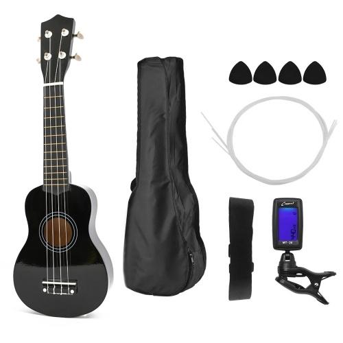 Instrument de guitare portable à 4 cordes ukulélé en bois pour enfants de 21 pouces