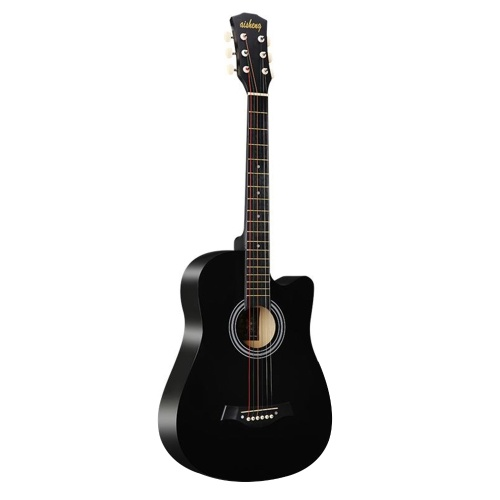 38 ''フルサイズアダルト6弦カッタウェイフォークアコースティックギター初心者向け(ブルー)