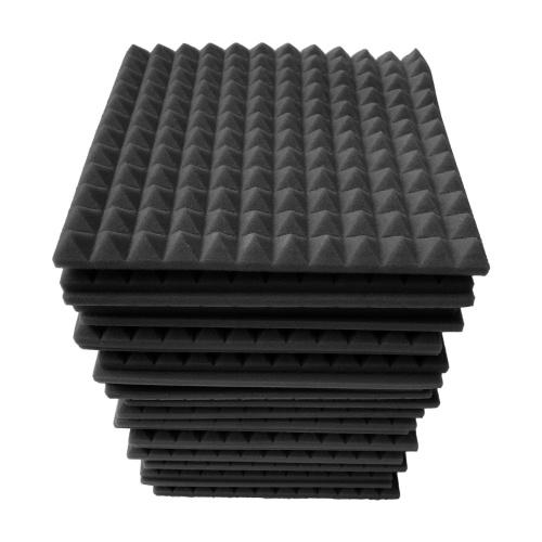 12pcs 12*12*1inch High Density Studio Acoustic Foams Panels Sound Insulation Foam Fire Retardant