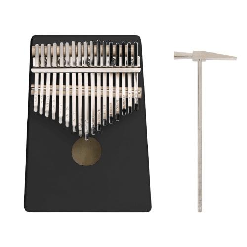 ammoon 17 Tasten C-Tune Daumen Klavier Kalimba Tragbares Massivholz Finger Klavier