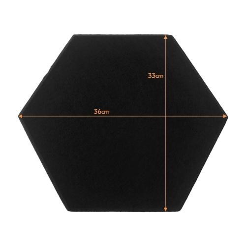 12 Stück 14 * 13 * 0,4 Zoll Akustikplatten Sechseck-Design Polyesterfasermaterial Schall- und Wärmeisolierung Schalldichte Schallabsorptionsplatte