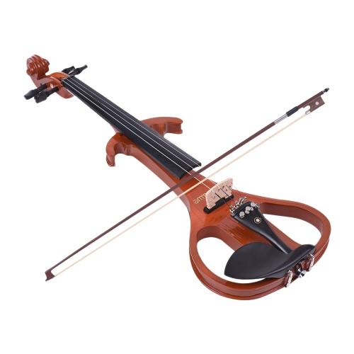 ammoon Full Size 4/4 Massivholz Elektrische Stille Violine
