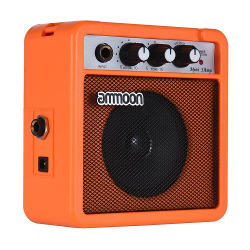 Mini 5 Watt 9V Battery Powered Amp Amplifier Speaker for Acoustic/ Electric Guitar Ukulele High-Sensitivity with Volume Tone Control