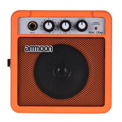 ammoon Mini High-Sensitivity Amp Verstärker Lautsprecher für akustische / elektrische Gitarre Ukulele