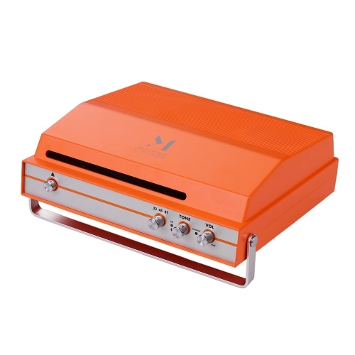 Portable Slot-in Record Player Rechargeable Battery with Tone Volume Control