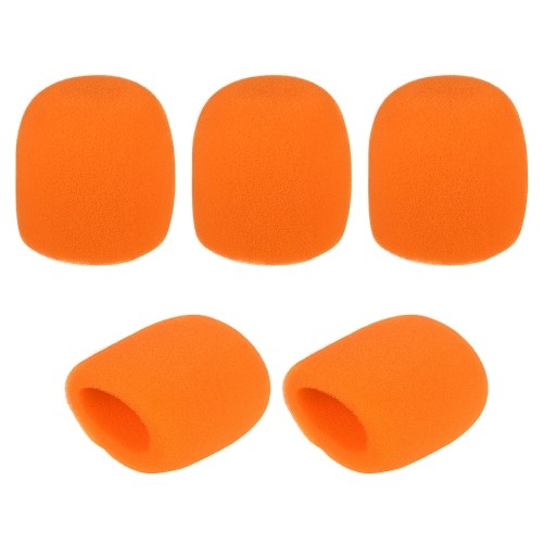 5pcs Handheld Microphone Windscreens Mic Foam Covers