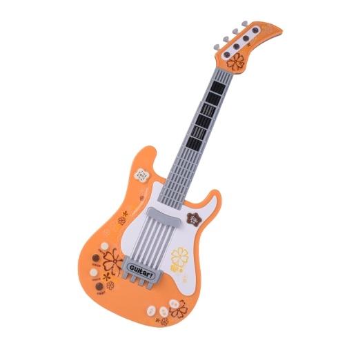 Детская музыкальная гитара Электрический музыкальный игрушечный инструмент