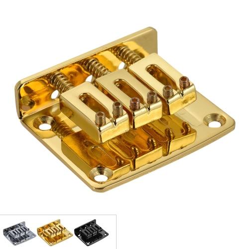 エレキギターパートクロムメッキ黄金のための調節可能な3列固定ブリッジテールピース