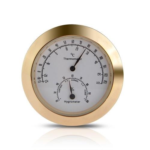 Hygrothermograph Violine Mithelfer Rundes Thermometer Hygrometer