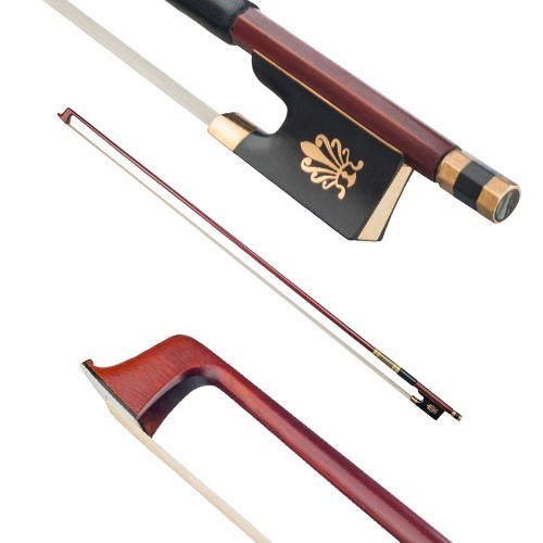 4/4 Full Size Solid Brazilwood  Violin Fiddle Bow Well Balanced Circle Style Ebony Frog